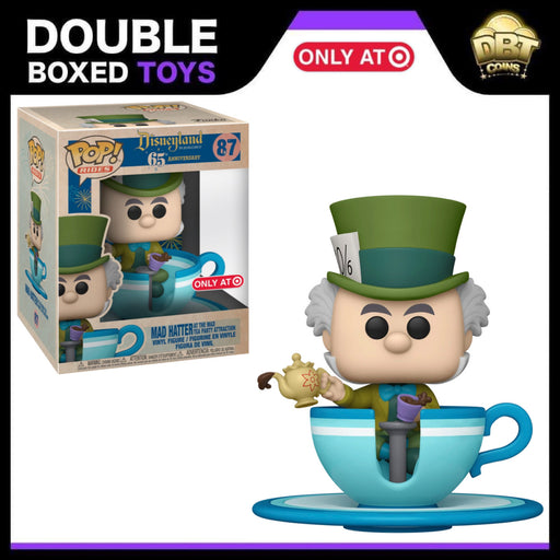 Disneyland 65th: Mad Hatter At The Mad Tea Party Attraction Target Exclusive Funko Pop Ride