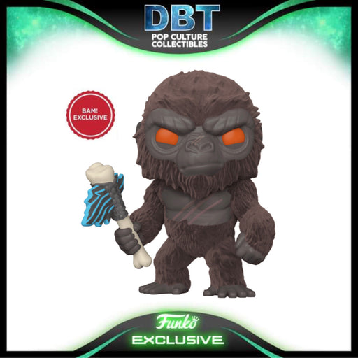 Godzilla vs. Kong: Kong (Flocked) with Battle Axe BAM Exclusive Funko Pop