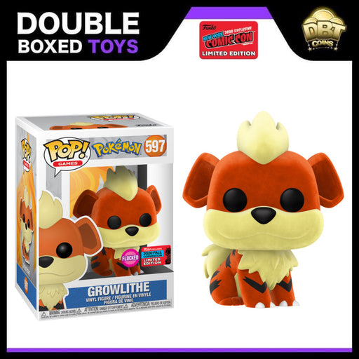 Pokemon: Flocked Growlithe NYCC 2020 Exclusive Funko Pop