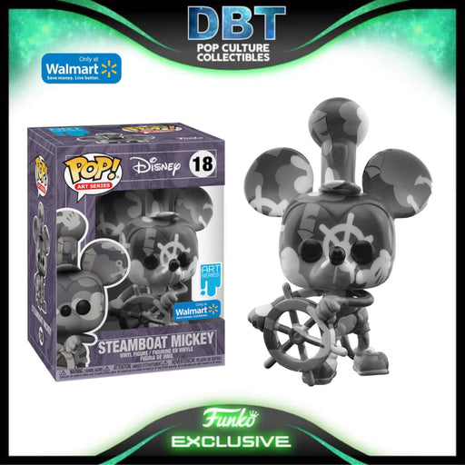Disney Art Series: Steamboat Willie Mickey Mouse Walmart Exclusive Funko Pop