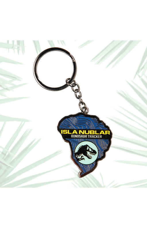 Universal Studios Jurassic World Isla Nublar Glow-In-The-Dark Keychain