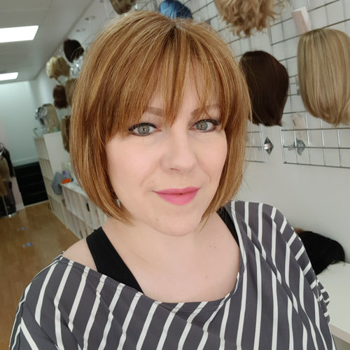 Tori synthetic wig in Copper glaze / Rene of Paris