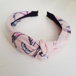 Pink pattern alice band