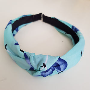Blue pattern alice band