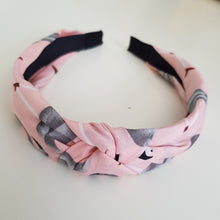 Load image into Gallery viewer, Pink and grey flamingo alice band