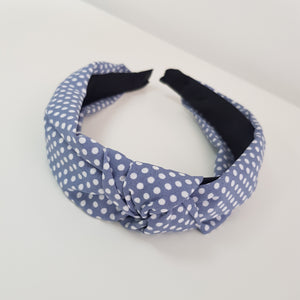Blue with mini dots alice band