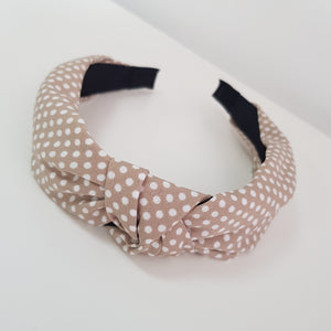 Beige with mini dots alice band