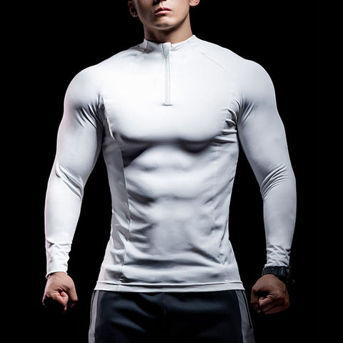 Sport long-sleeved high-elastic quick-drying tight top - newgugi
