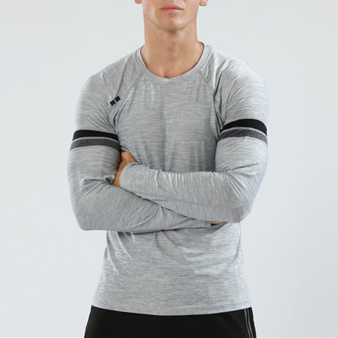 Men's Casual Round Neck Long Sleeve Sports Quick-drying Clothes