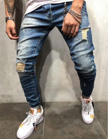 New Fashion Men's Hole Jeans - newgugi