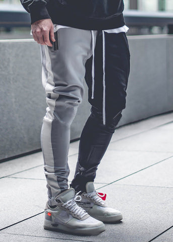 Men's Color Matching Color   Zipper Casual Pants - newgugi
