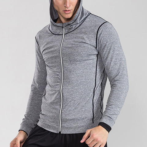 Men's Casual Solid Color Breathable Long Sleeve Sports Jacket