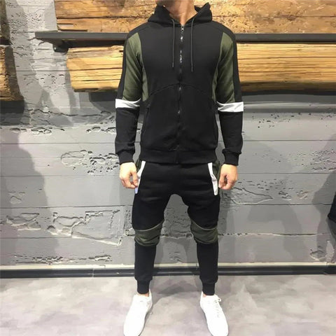 Casual Men's Contrast Sports Set