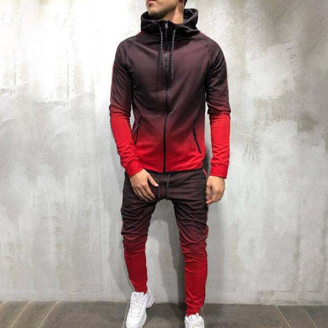 Casual gradient men's suit - newgugi