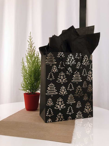 present wrapped with brown paper kraft bag