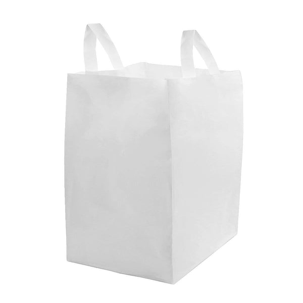 White Plastic Shopping Bags With Cardboard Bottom