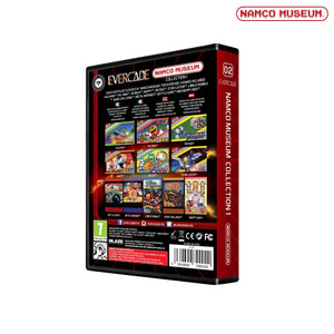 namco museum collection 1 evercade cartridge back of box packaging