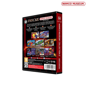 namco museum collection 1 cartridge evercade back of box packaging