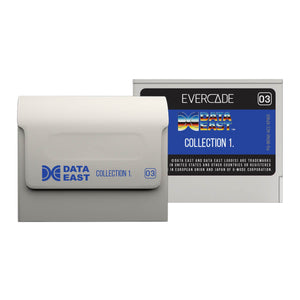 evercade data east collection 1 cartridge front and back