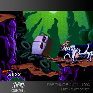 earthworm jim screenshot evercade