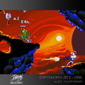 earthworm jim 2 screenshot evercade