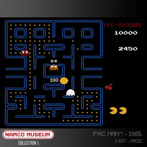 pac man evercade screen shot