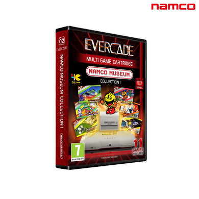 namco museum collection 1 evercade cartridge front of box packaging