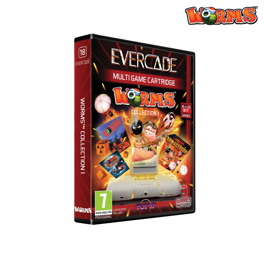 #18 Worms Collection 1 - Evercade Cartridge