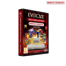 Load image into Gallery viewer, namco museum collection 2 cartridge evercade front of box packaging