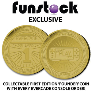 Evercade - ALL-IN (EXCLUSIVE Black Collector's Limited Edition) + Free Case + Exclusive Collectable Coin