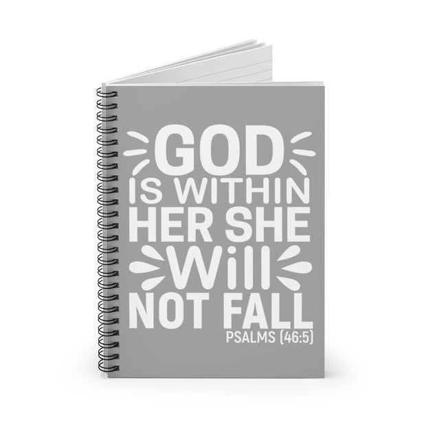 She Cannot Fall Notebook - Iconic Style Inc