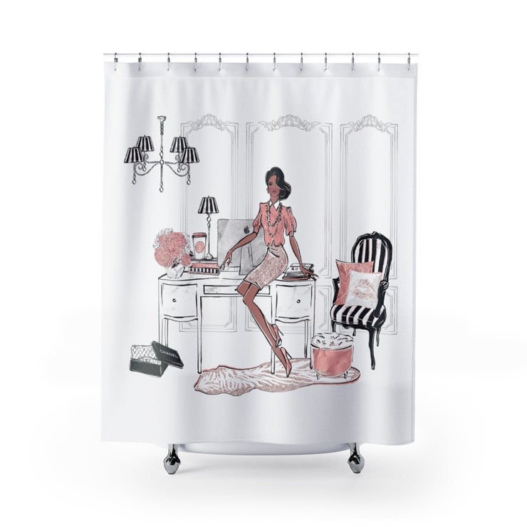 Fancy Fashionista Shower Curtain - Iconic Style Inc
