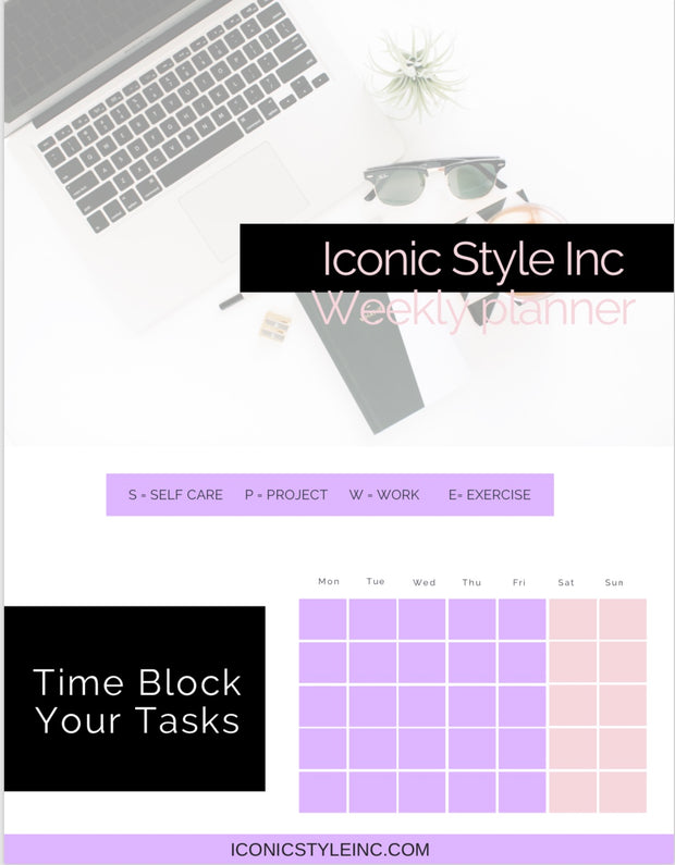 Iconic Style Inc Digital Weekly Planner - Iconic Style Inc