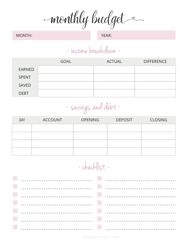 The Ultimate Personal Finance Planner - Iconic Style Inc.