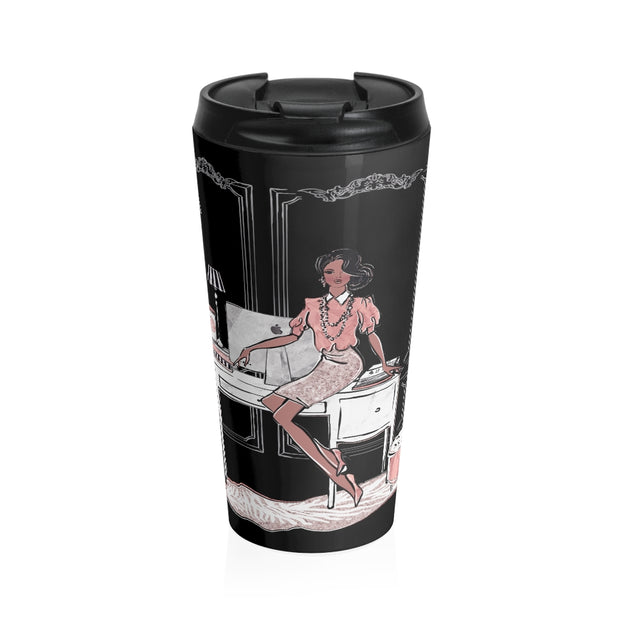 Fancy Fashionista Stainless Steel Travel Mug - Iconic Style Inc