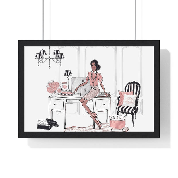 Fancy Fashionista Framed Hanging Wall Art - Iconic Style Inc
