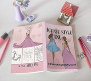 Iconic Style Inc Fashion Coloring Book - Iconic Style Inc