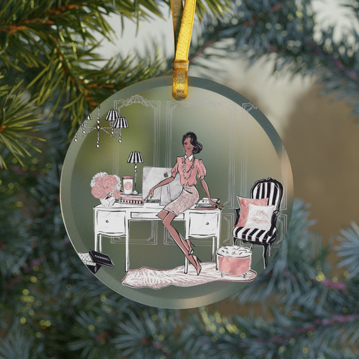 Fancy Fashionista Glass Ornament - Iconic Style Inc