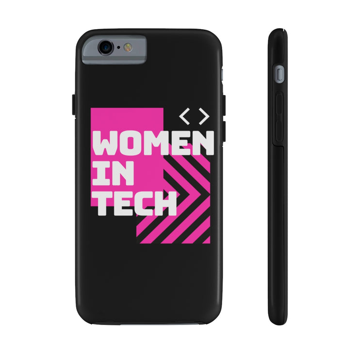 Women in Tech Pink Case Mate Phone Case - Iconic Style Inc
