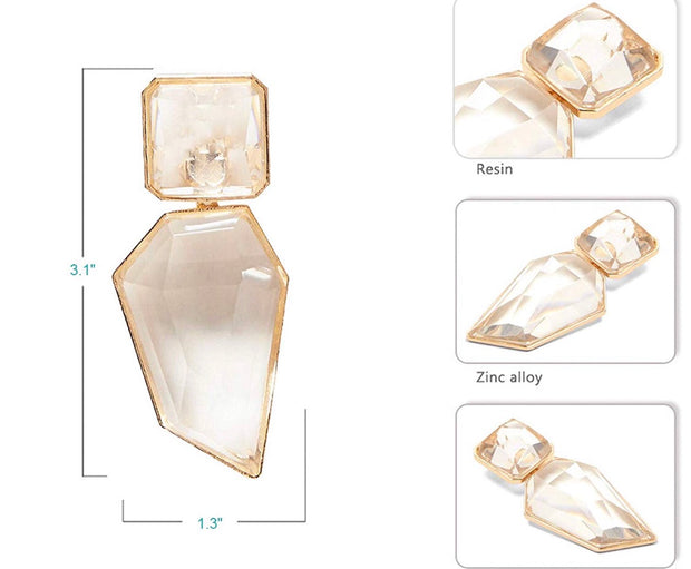 Crystal Clear Statement Earrings - Iconic Style Inc