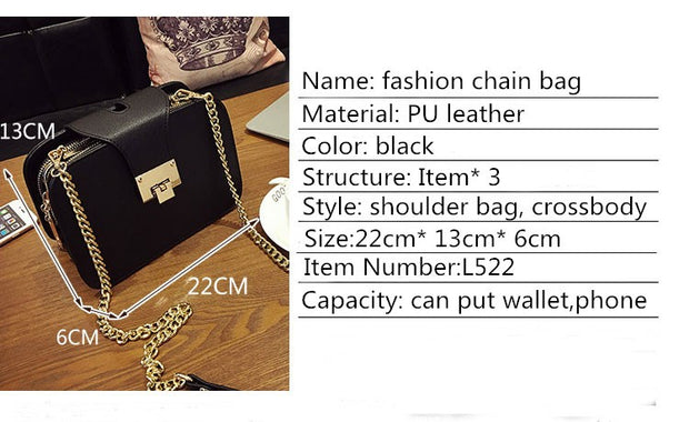Girl Boss Chain Strap Handbags - Iconic Style Inc