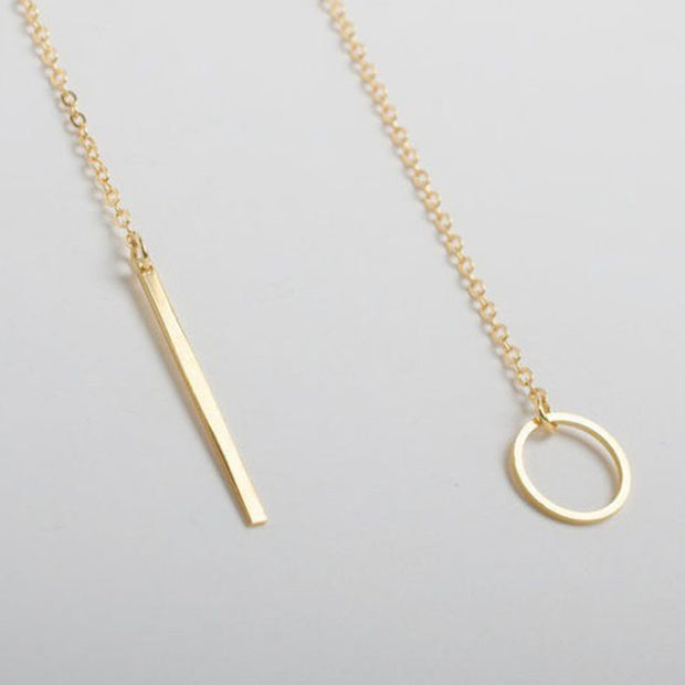 Ultra Sleek Gold Pendant Necklace - Iconic Style Inc