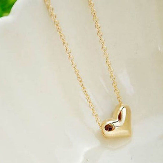 My Heart is Yours Gold Heart Pendant Necklace - Iconic Style Inc