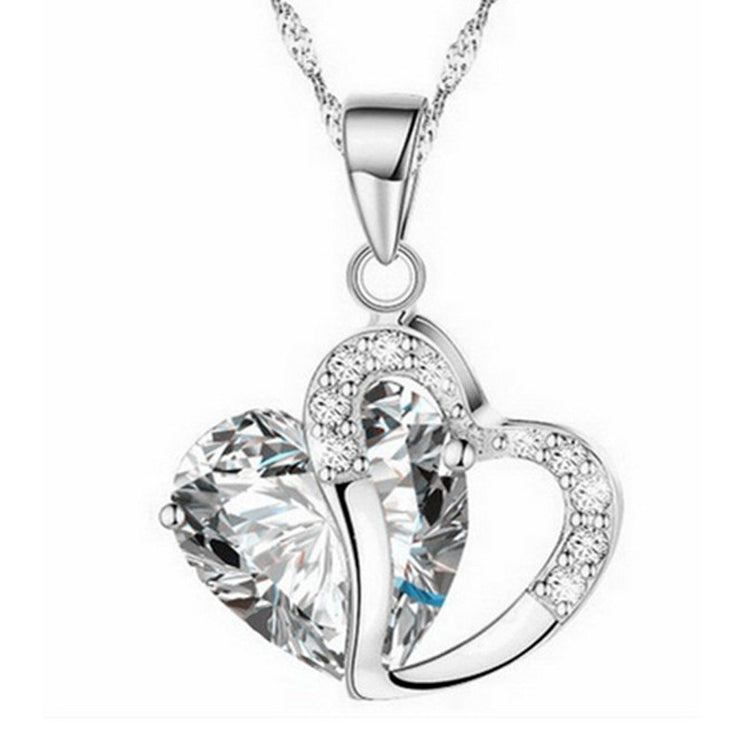 Has My Heart-Shaped Crystal Necklace - Iconic Style Inc