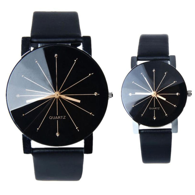 Lovers Watch - Leather Quartz Wristwatch - Iconic Style Inc