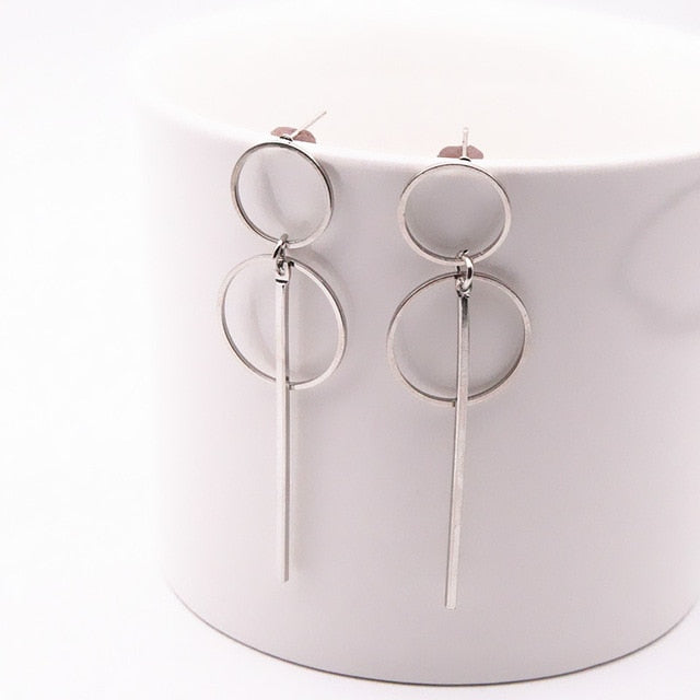 Delicate & Dainty Drop Gold and Silver Earrings - Iconic Style Inc
