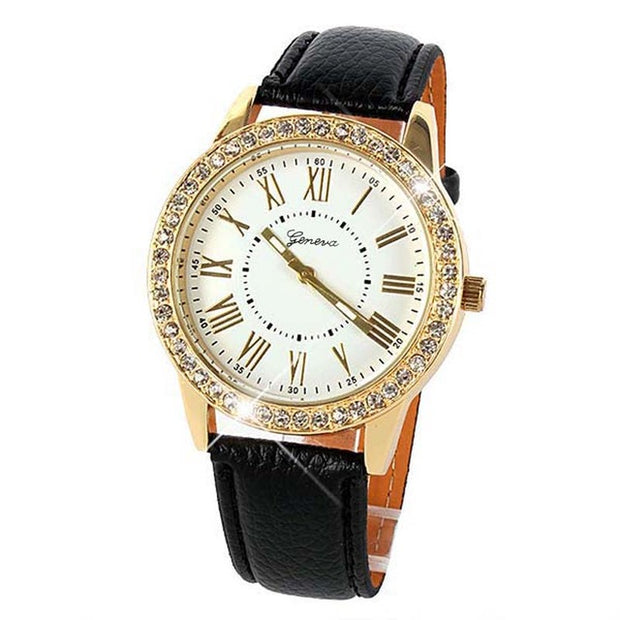 Always on Time Luxury Crystal Watch - Iconic Style Inc