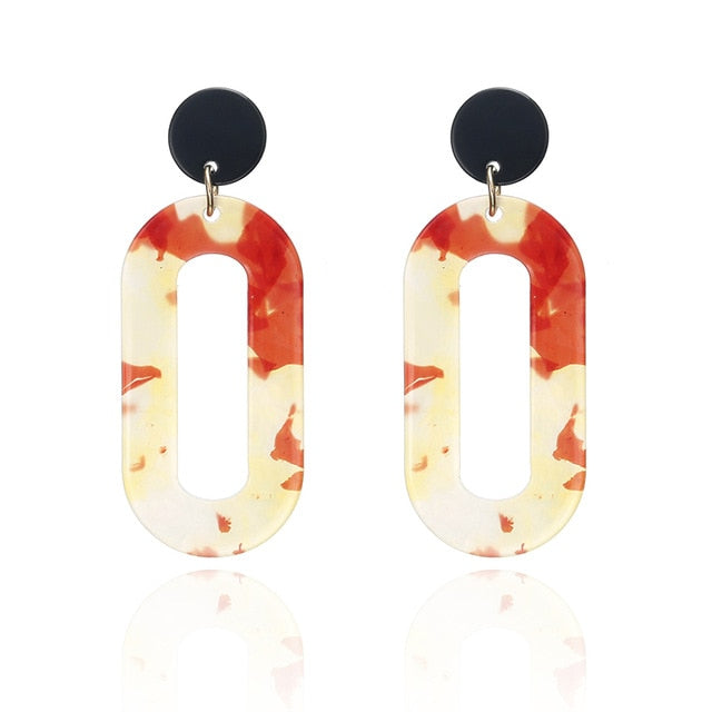Coco Vintage Geometric Statement Earrings - Iconic Style Inc