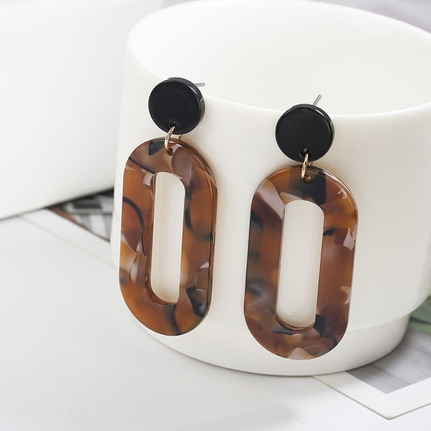 Coco Vintage Geometric Statement Earrings - Iconic Style Inc.