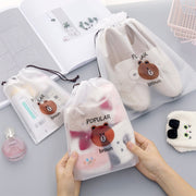 Transparent Teddy Cosmetic Bag - Iconic Style Inc